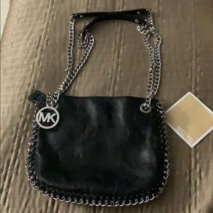 Black leather MK bag. Like New